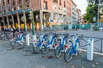 Automatic bicycle rental, Parma, Italy