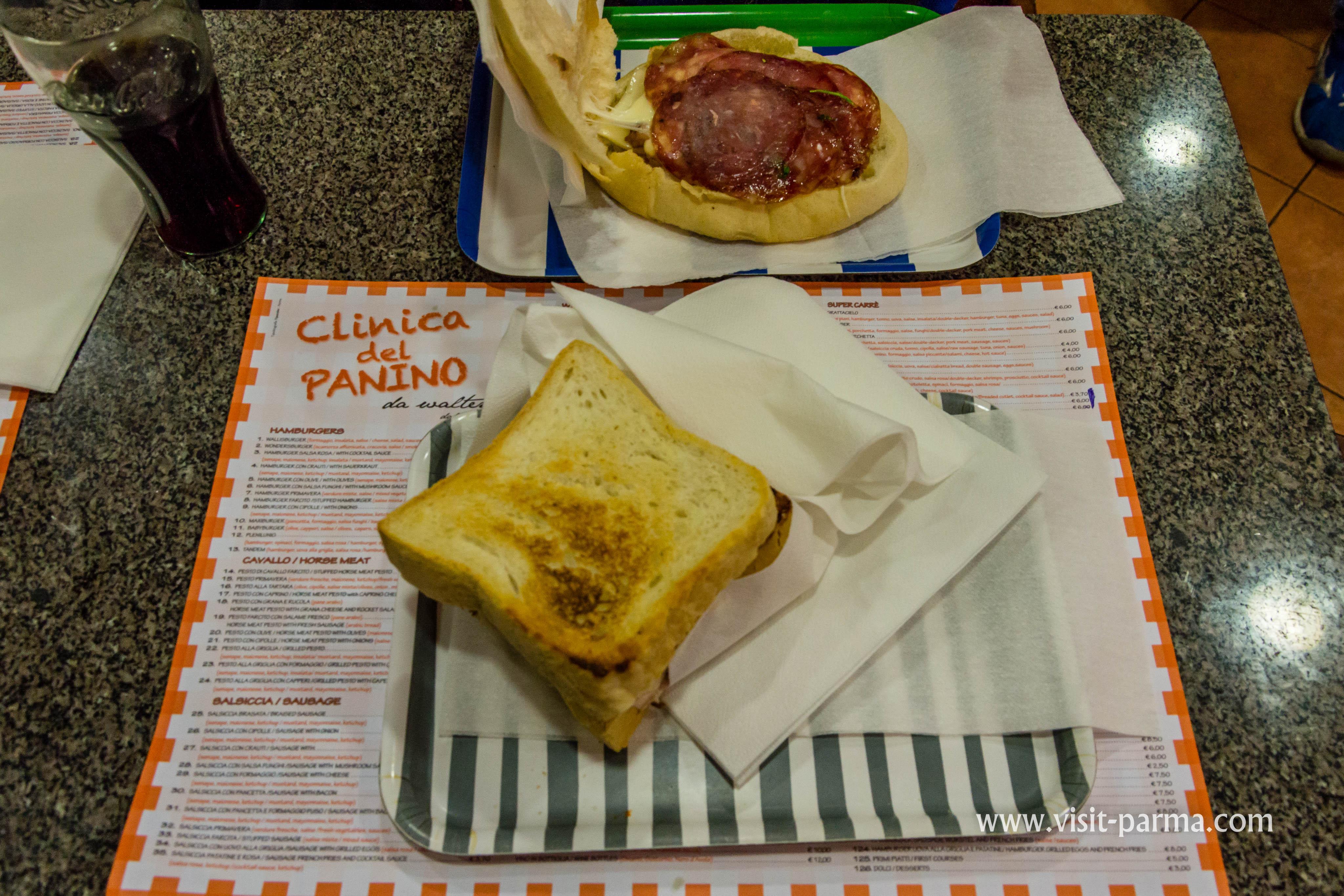 Er Sandwich In Clinica Del Panino Da Walter Parma Italy