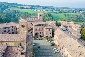 Castell'Arquato center from the top of the tower, Parma, Italy