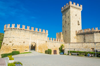 The castle of Vigoleno, Parma, Italy