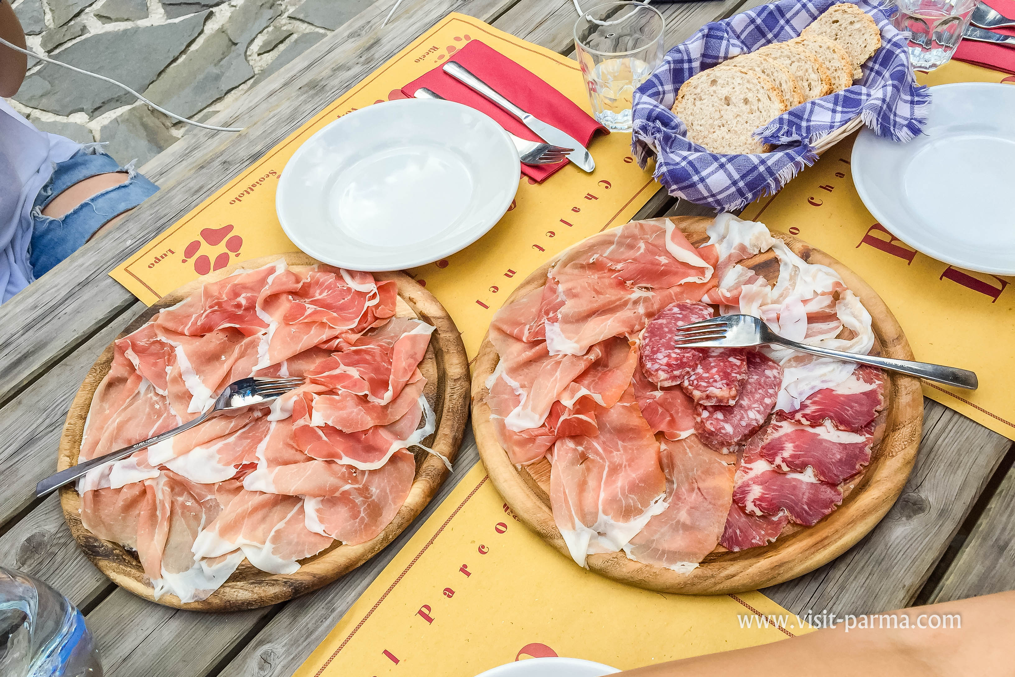 Cold Cuts Parma Ham And Salami In A Refuge Lagdei The 100 Lakes Park
