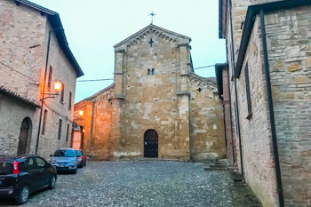 Collegiate Church Santa Maria Assunta of Castell'Arquato, Parma, Italy