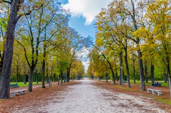 Ducal Park in autumn, Parma, Italy