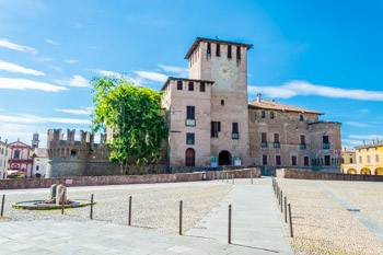 Fontanellato Castle and the square, Parma, Italy
