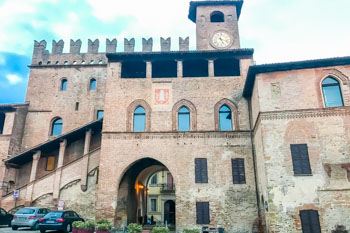 Historical center of Castell'Arquato, Parma, Italy
