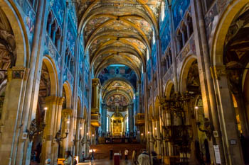 The interior of the Cathedral (Duomo), Parma, Italy