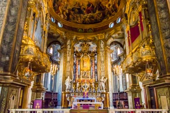 The interior of the Sanctuary of Santa Maria della Steccata, Parma, Italy