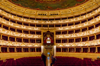 The interior of the Teatro Regio, Parma, Italy