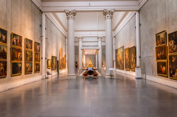 The National Gallery in the Palazzo della Pilotta, Parma, Italy