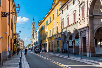 Old Hospital and Via d'Azeglio, Parma, Italy