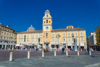 Piazza Garibaldi, the center, Parma, Italy