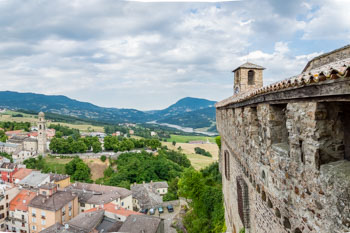 View from Bardi Castle, Parma, Italy