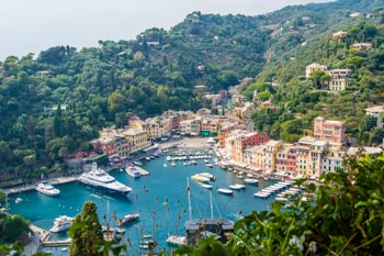 Panoramic view, Portofino, Italy